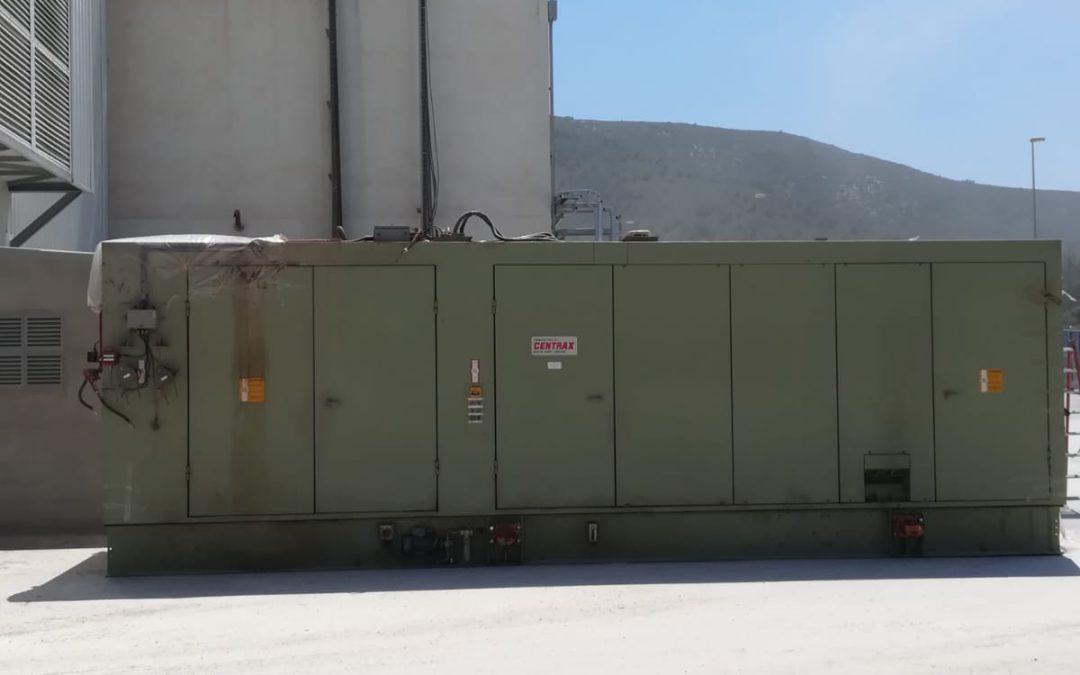 Desconexión y desmontaje cuadro control turbina cogeneración