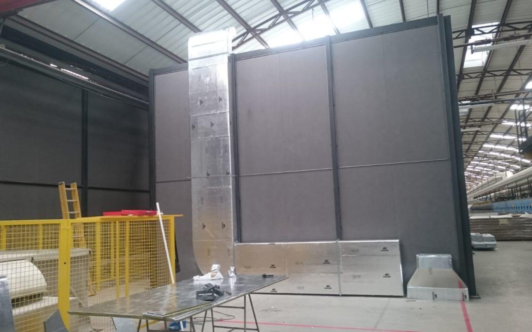 Fabricación e instalación conductos de fibra para aire acondicionado
