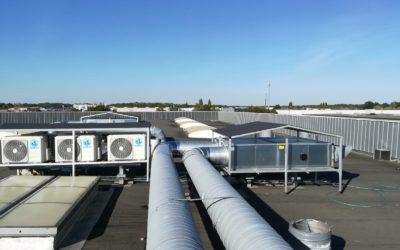 Instalación conductos de chapa para equipos de aires acondicionados