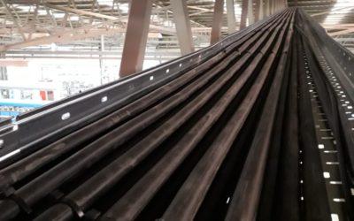 Instalación de cableado eléctrico sobre bandeja perforada